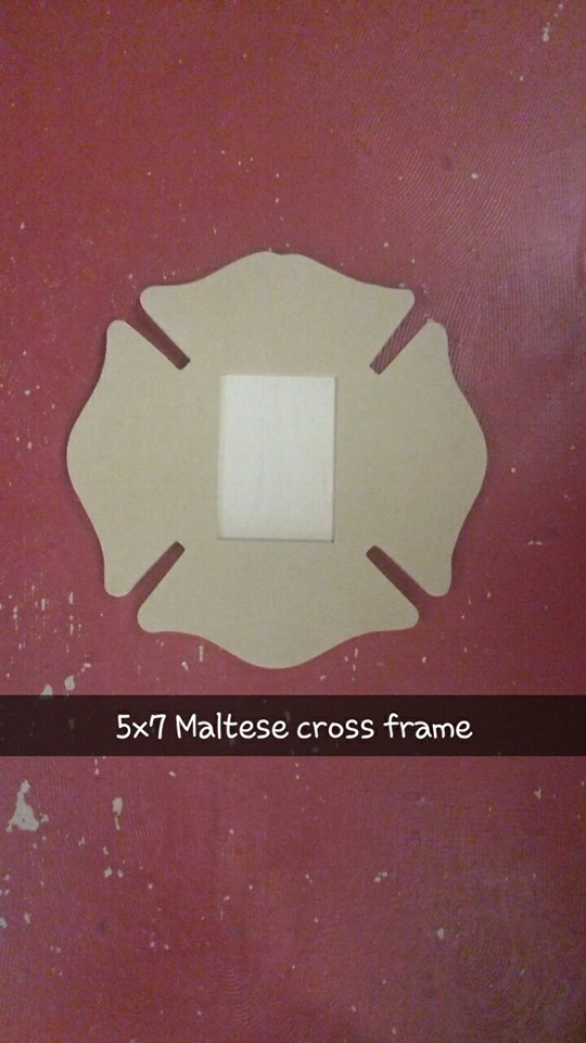 5x7 Maltese Cross