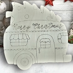Christmas Camper with tree on top