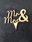 Mr. & Mrs. #1 Cake Topper