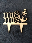 Mr. & Mrs. #2 Cake Topper