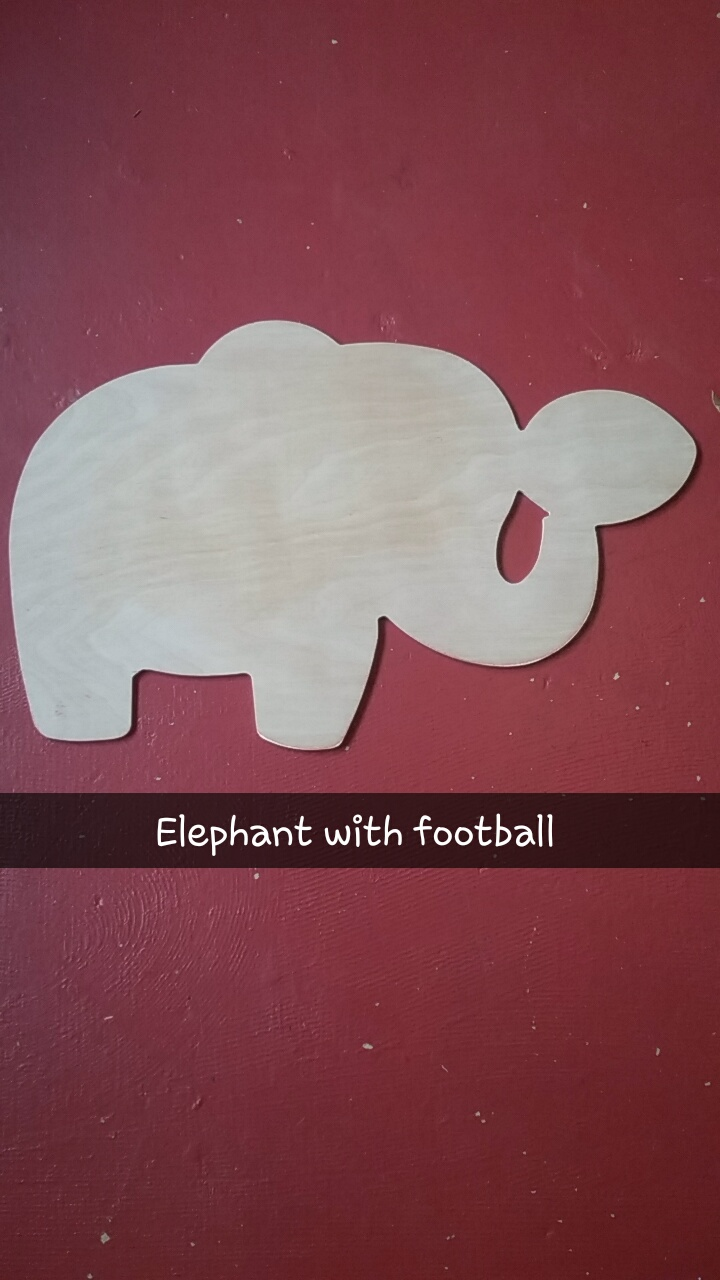 Elephant with Football