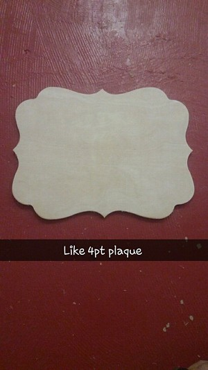 Like 4pt plaque
